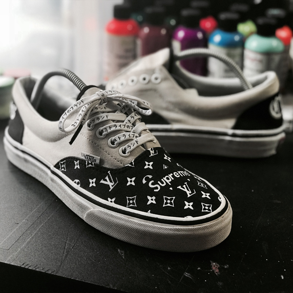 2c454be21db39 Những hình ảnh đẹp về giầy sau khi được custom trên Morino