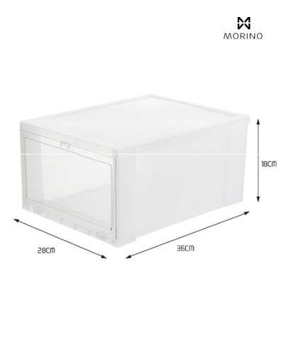 Hộp giày nhựa Mica/ABS Enito White Box