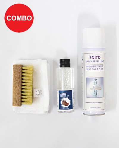 Suede Care Combo (1 Enito Nano Repellent 250ml + 1 Enito Suede Cleaner Kit)